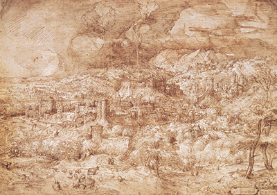 Landscape with a Fortified Town Pieter Bruegel